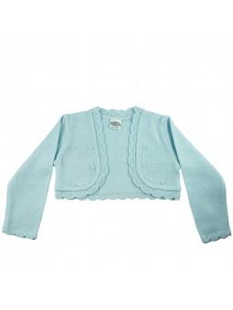 Rochy chaqueta de punto celeste