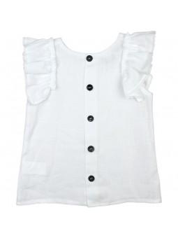 Rochy blusa blanca vista trasera