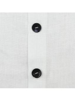Rochy blusa blanca detalle botones