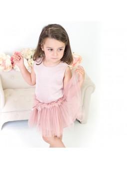 Eve Children conjunto con falda de tul rosa