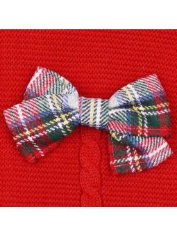 Rochy jersey rojo detalle lazo