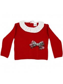 Rochy jersey rojo con lazo escocés