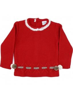 Rochy jersey rojo pompones