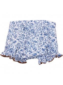 Rochy braguita estampada azul y blanca