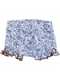 Rochy braguita estampada azul y blanca vista trasera