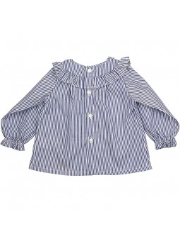 Rochy camisa de rayas vista trasera