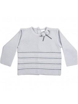 Rochy jersey gris con pompones