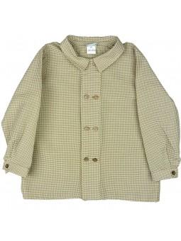 Rochy. Camisa de cuadros marrón