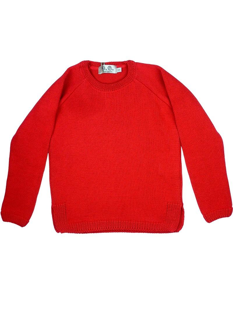 José Varón. Jersey rojo con aperturas