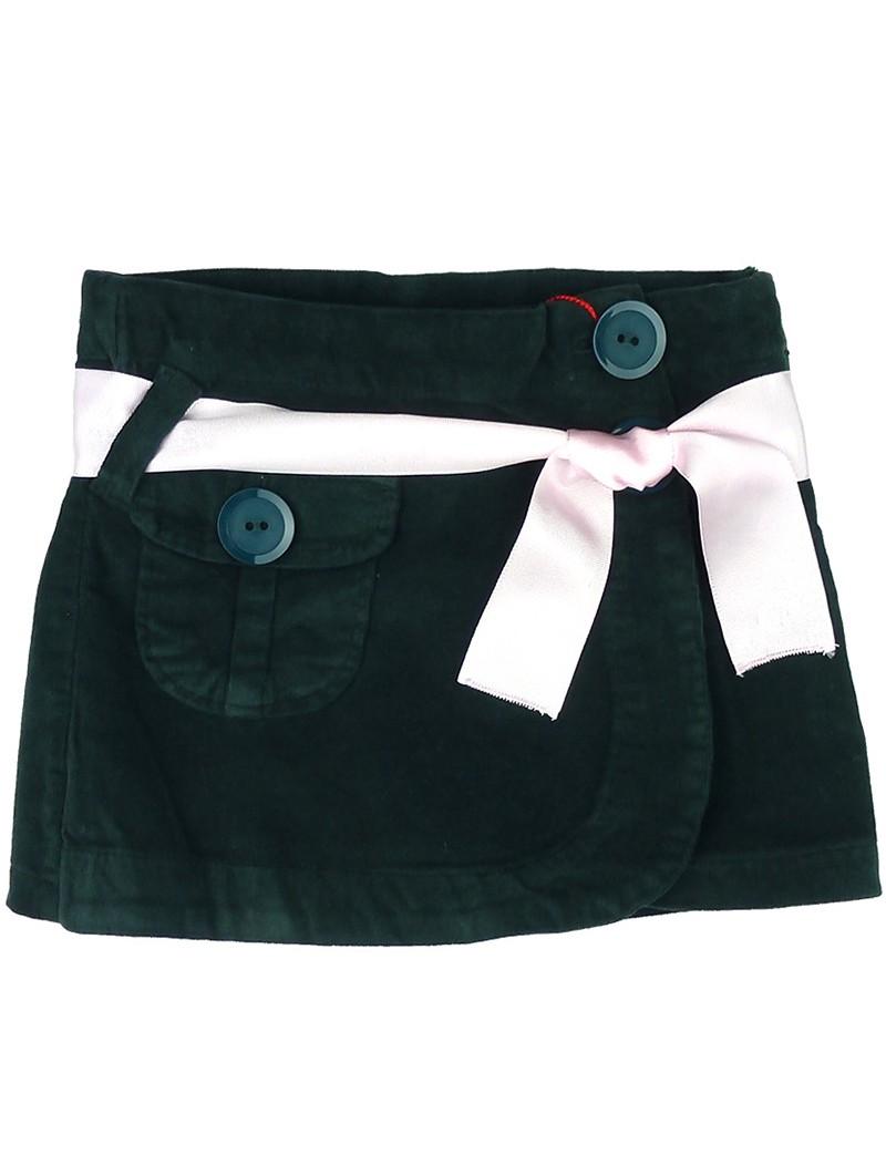 Nachete falda-pantalón de pana verde oscuro
