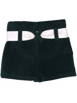 Nachete falda-pantalón de pana verde oscuro vista trasera