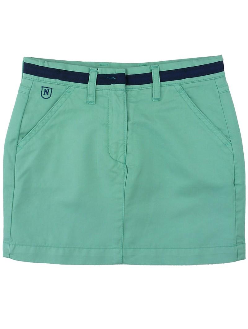Falda verde con cinturón. Nachete
