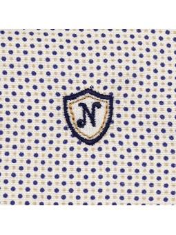 Nachete camisa de lunares detalle logo bordado