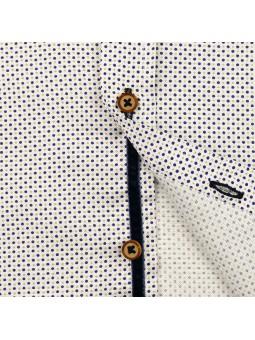Nachete camisa de lunares detalle botones