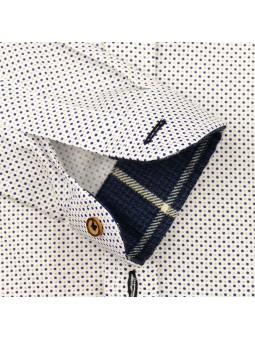 Nachete camisa de lunares detalle manga