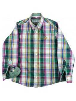 Nachete camisa de cuadros Brent verde