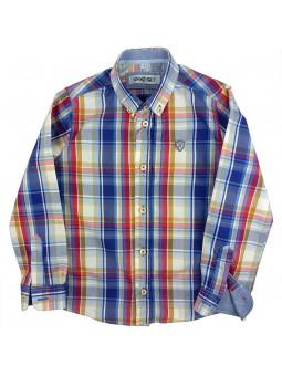 Nachete camisa de cuadros Brent azul