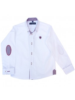 Nachete camisa blanca con coderas