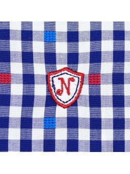 Nachete camisa de cuadros vichy detalle logo bordado