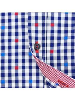 Nachete camisa de cuadros vichy detalle botones