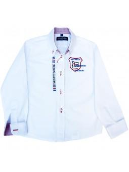 Nachete camisa blanca con escudo bordado
