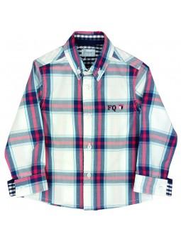 Foque camisa de cuadros con logo bordado