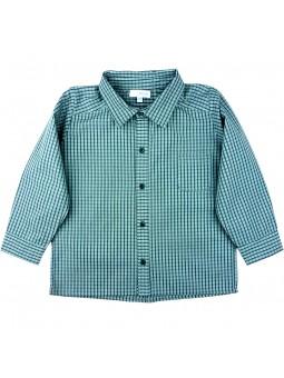 Miski Wawa. Camisa de cuadros turquesa