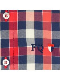 Foque camisa de cuadros coral detalle logo bordado