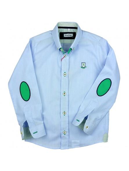 Nachete camisa de rayas finas con coderas