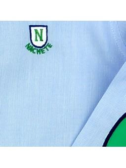 Nachete camisa de rayas finas detalle logo