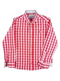 Nachete camisa vichy roja y blanca