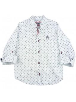 Nachete camisa estampada anclas