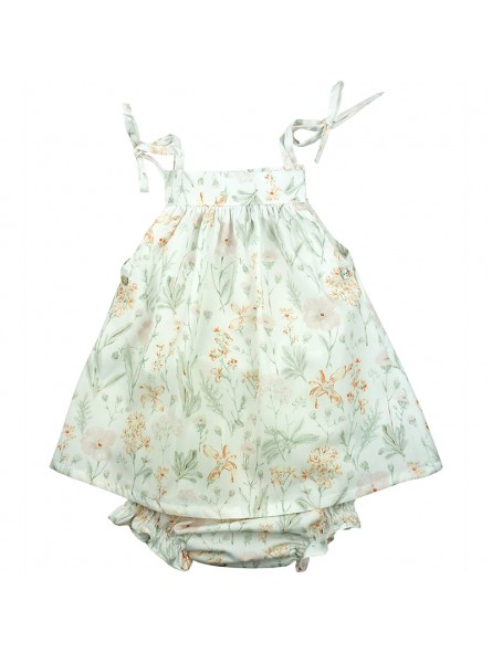 Paloma de la O. Conjunto de bebé estampado primaveral