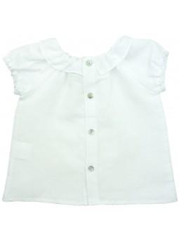 Paloma de la O. Camisa blanca vista trasera
