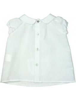 Paloma de la O. Camisa blanca con bolsillo estampado