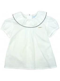 Foque. Camisa blanca con cuello bebé