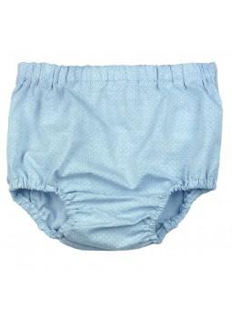 Foque. Cubrepañal jeans con lunares blancos