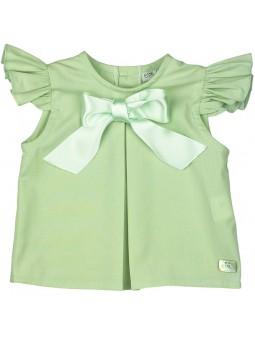 Eve Children. Camisa verde oliva con lazo