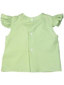 Eve Children. Camisa verde oliva vista trasera