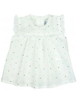 Rochy. Camisa blanca de plumeti