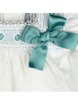 Rochy. Blusa blanca de bebé detalle lazo