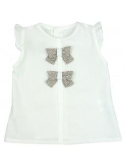 Rochy. Camisa blanca con lazos
