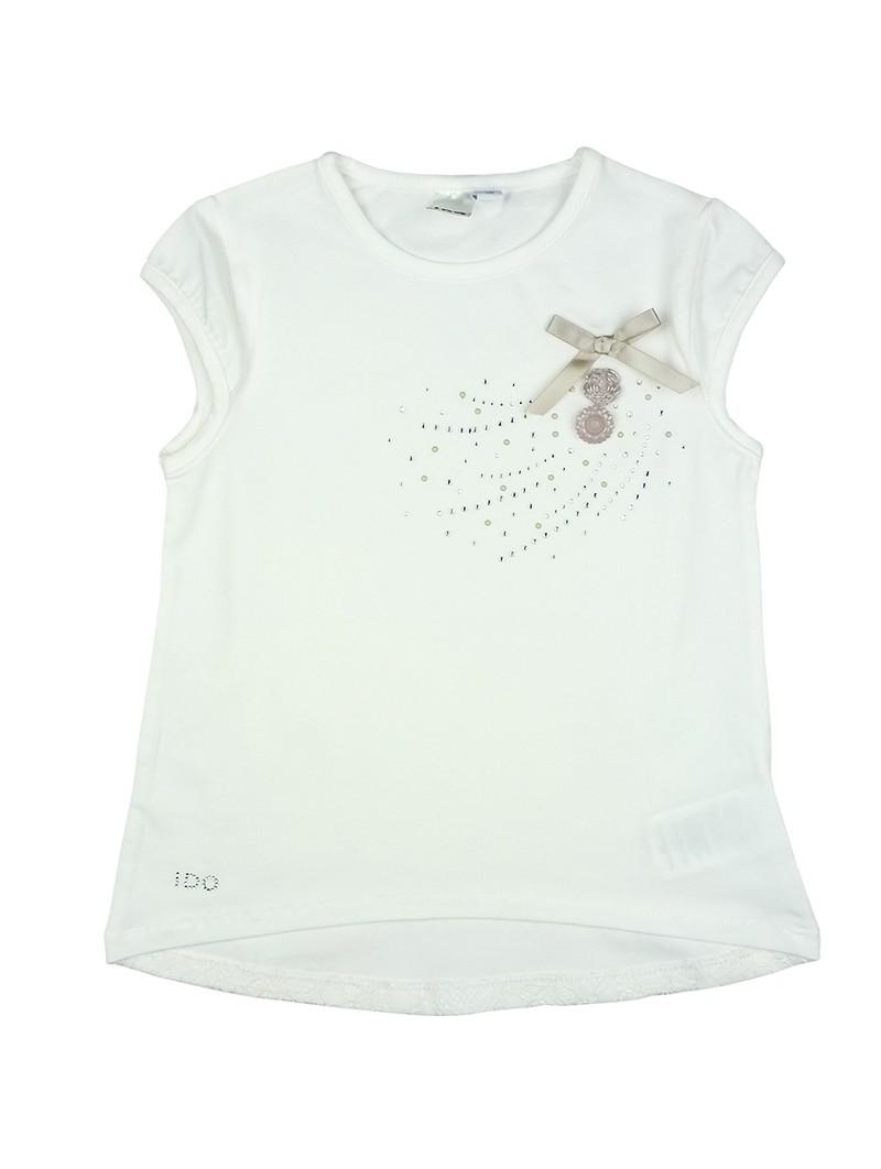 Camiseta con espalda de encaje. iDO by Miniconf