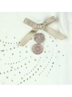 Camiseta con espalda de encaje detalle adorno. iDO by Miniconf
