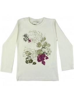 Camiseta estampada flores. iDO