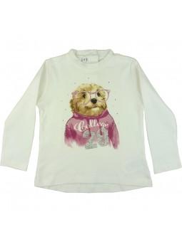 Camiseta estampada perrito con gafas. iDO