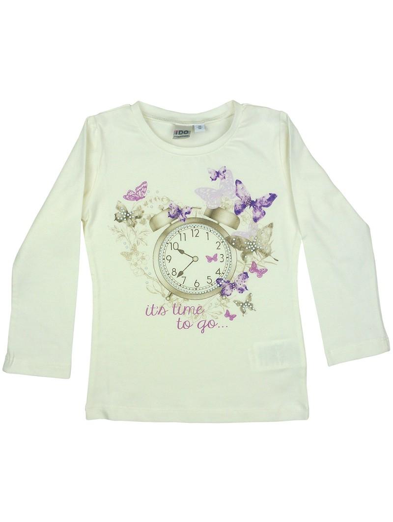 Camiseta estampada reloj. iDO
