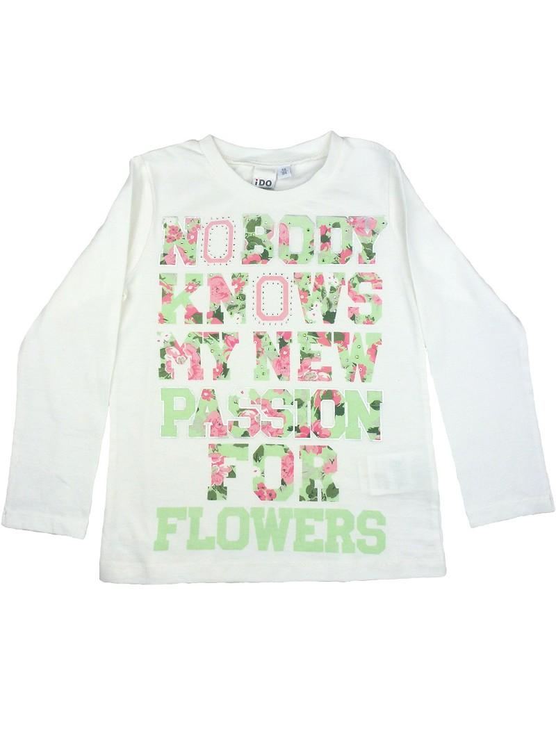 Camiseta estampada letras. iDO