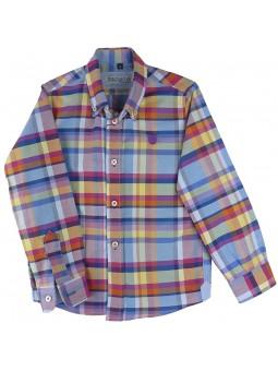 Nachete. Camisa de cuadros azulon, rojo, amarillo