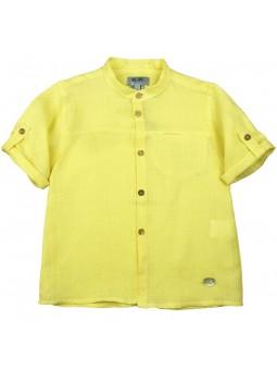 José Varón. Camisa amarilla con manga corta